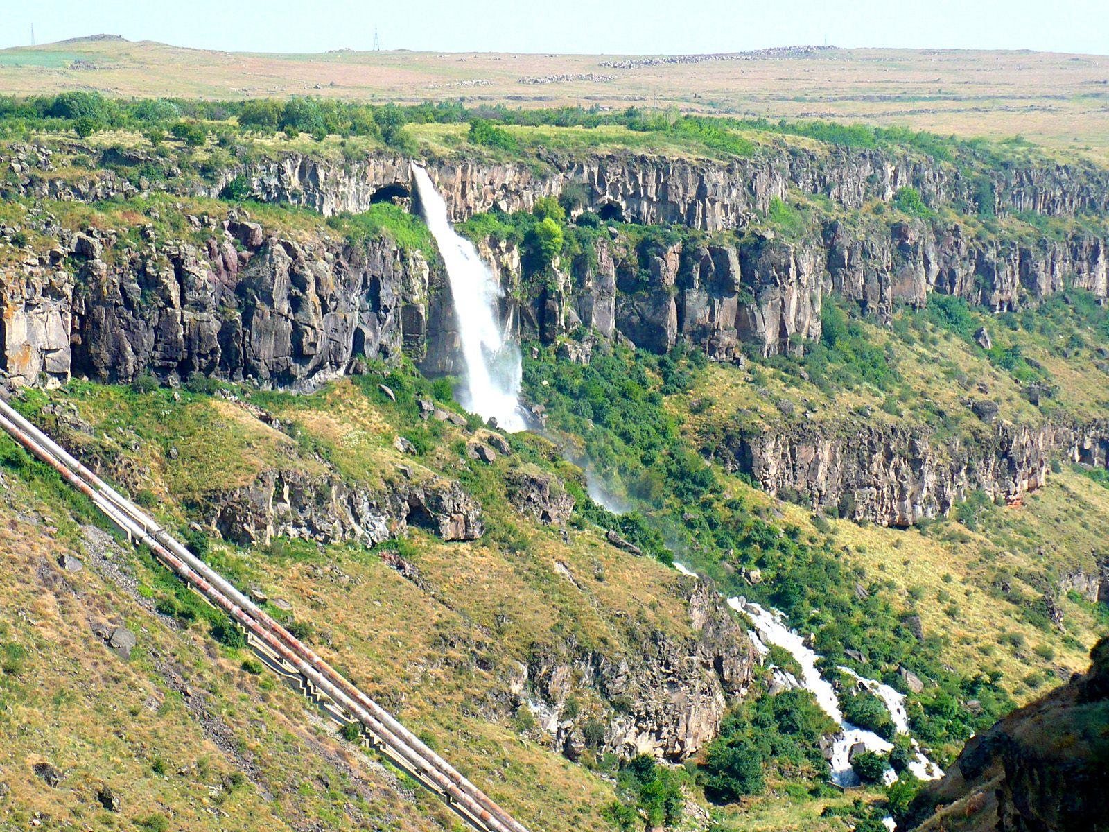 Касахский водопад сверху