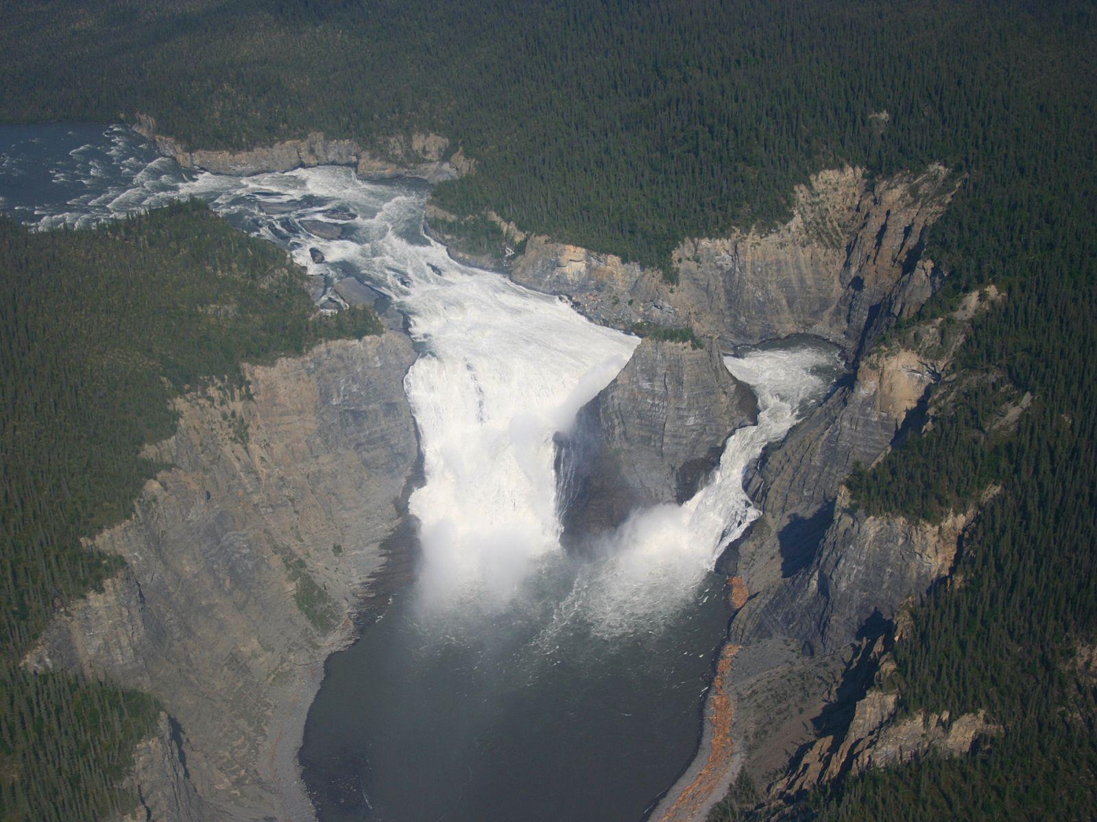 Водопад Вирджиния с высоты