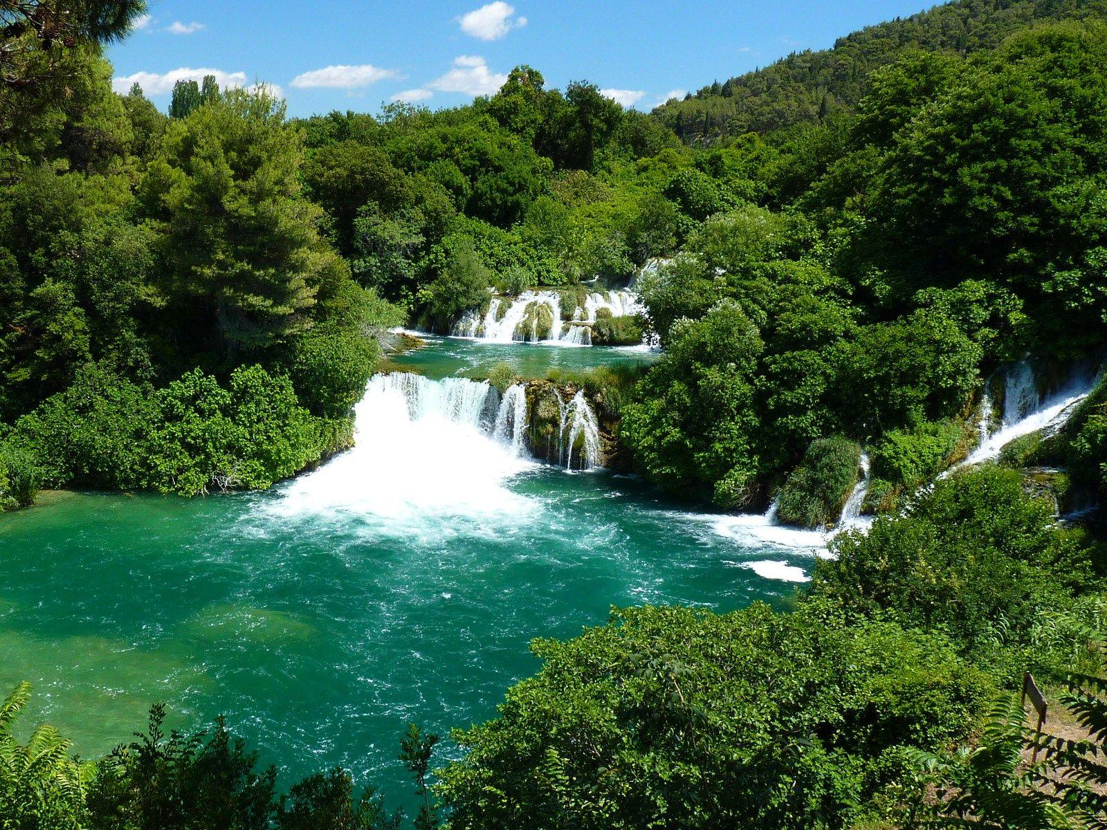 Пейзаж водопадов Крка