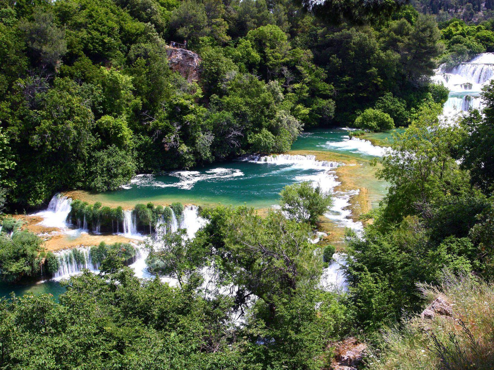 Водопады Крка с высоты