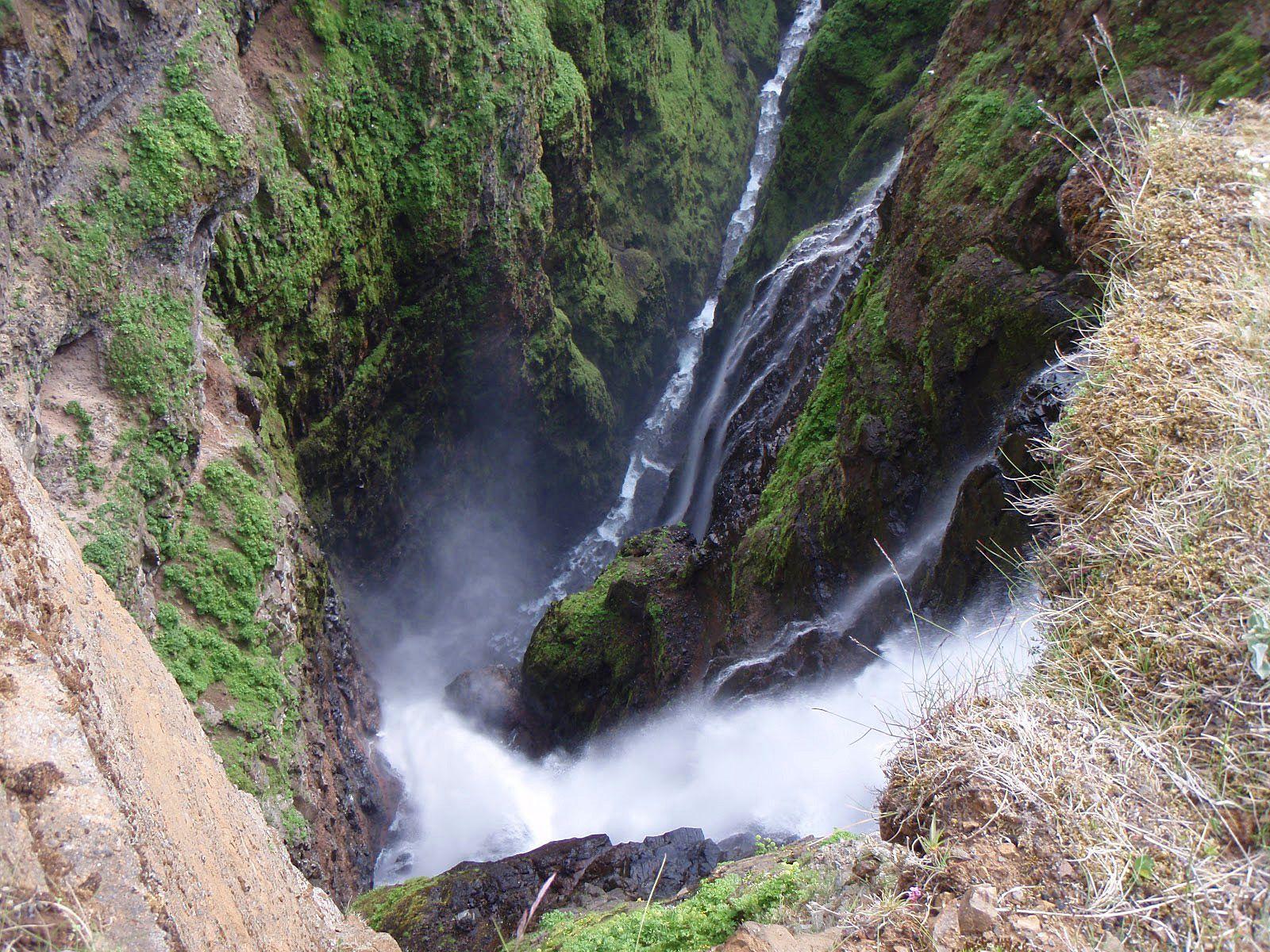 Водопад Глимур сверху