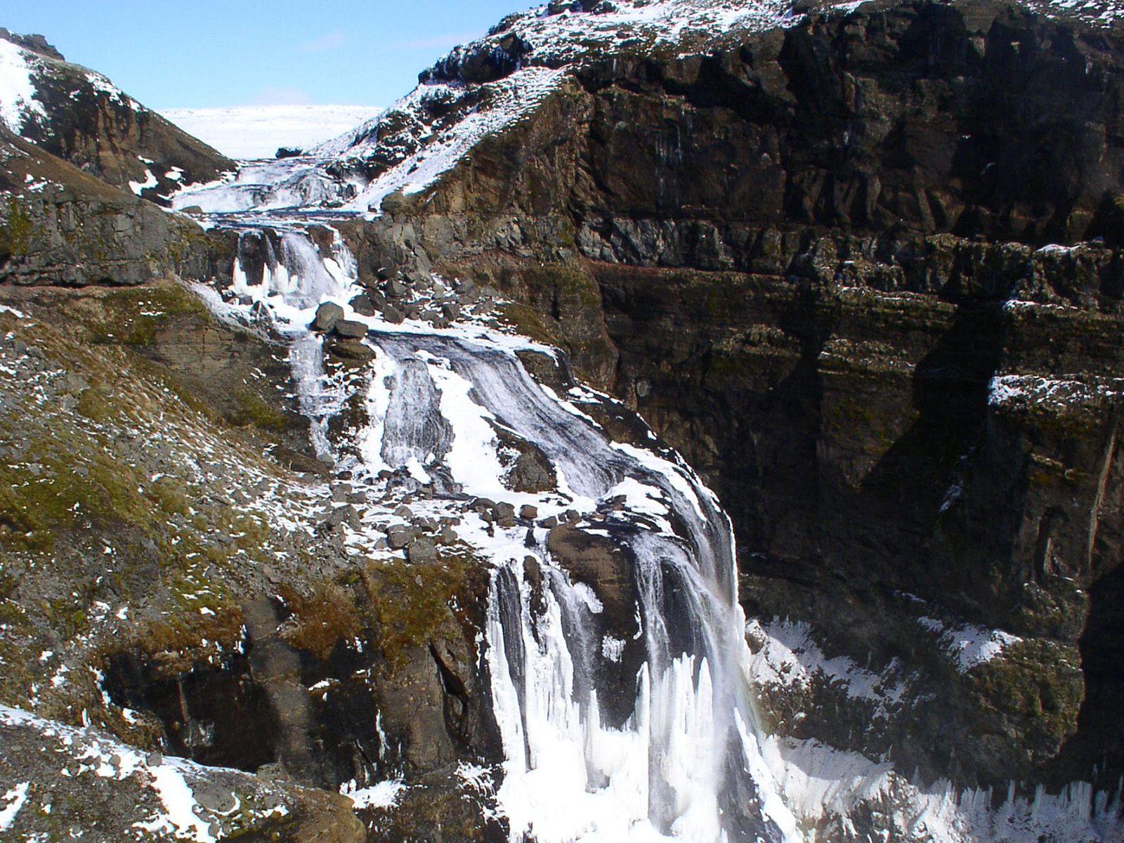 Водопад Глимур зимой