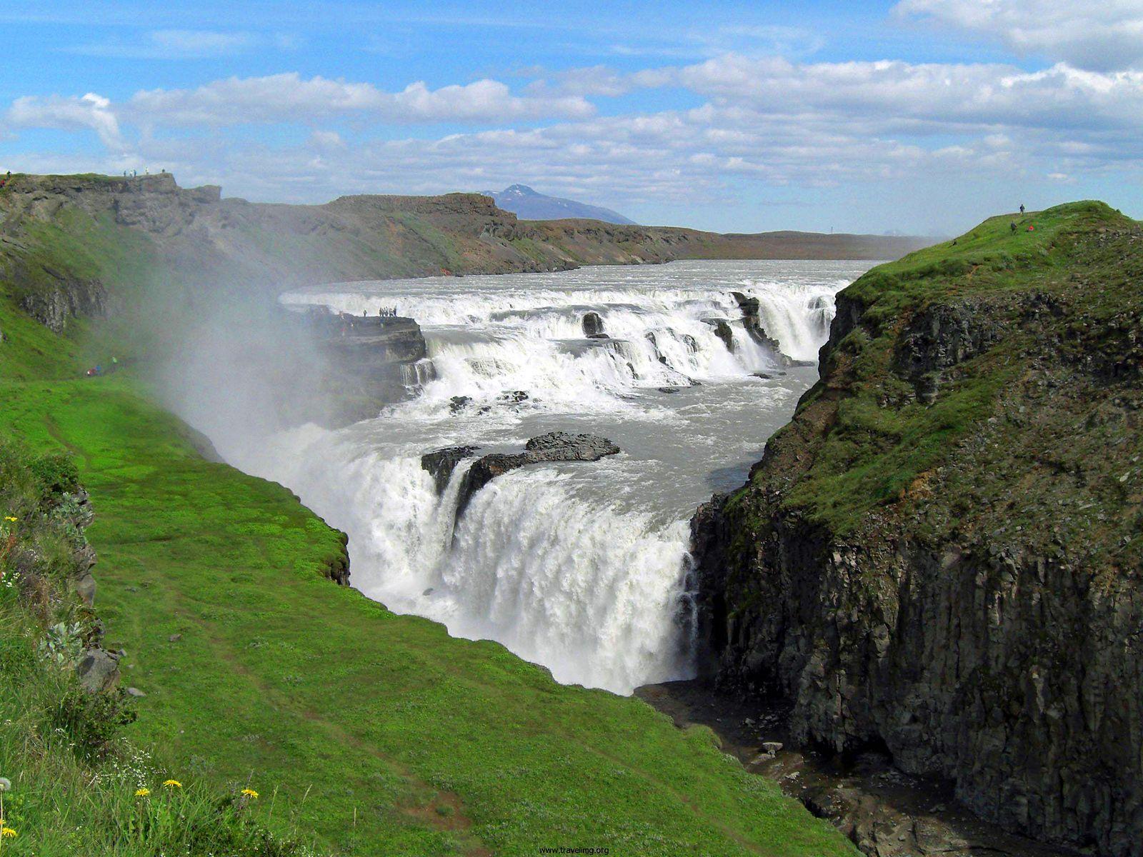 Водопад Гюдльфосс пейзаж