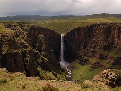 Водопад Малетсюнейане издалека