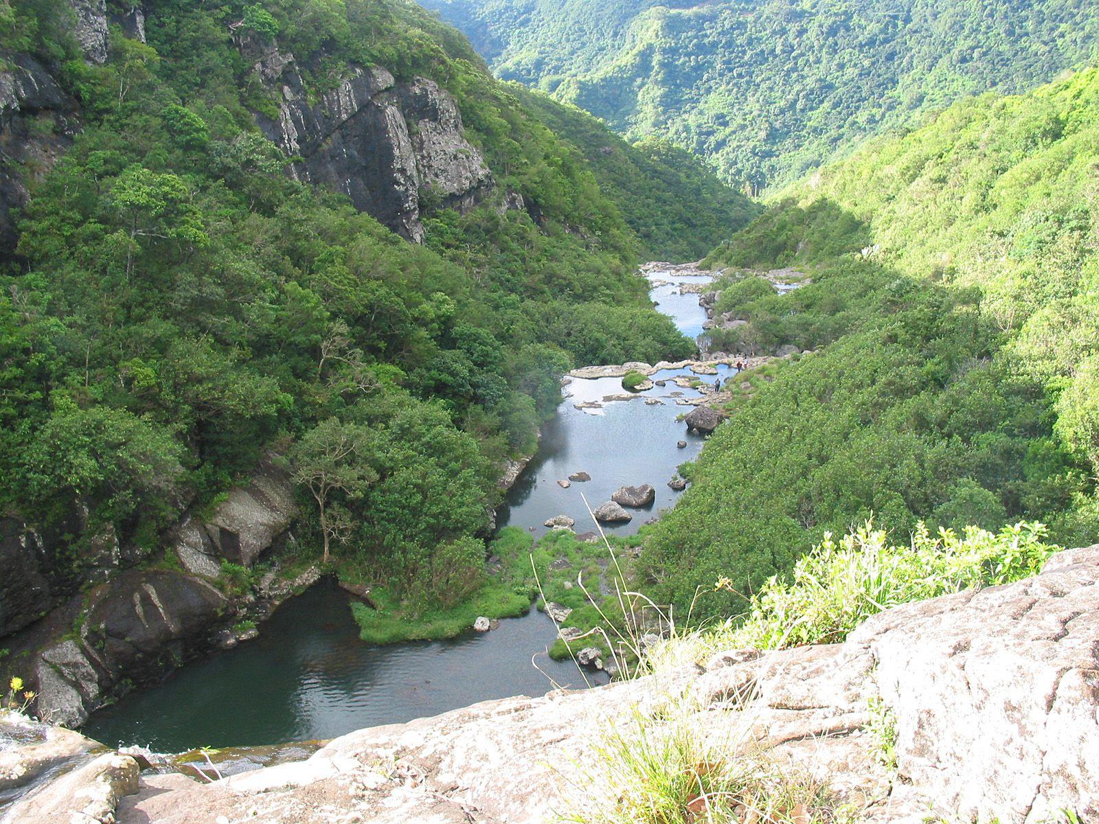 Водопады Тамарин сверху