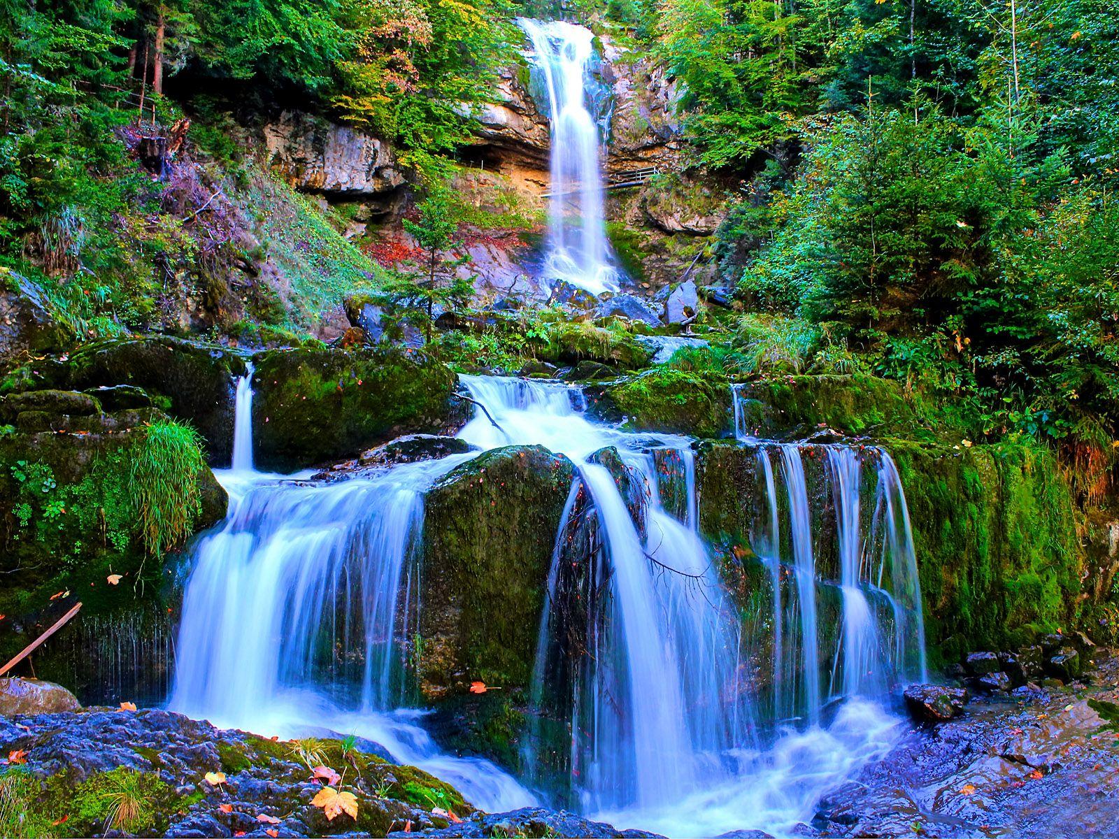 Пейзаж водопада Гиссбах