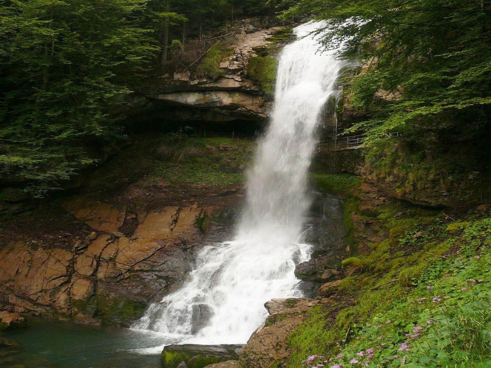 Водопад Гиссбах внизу