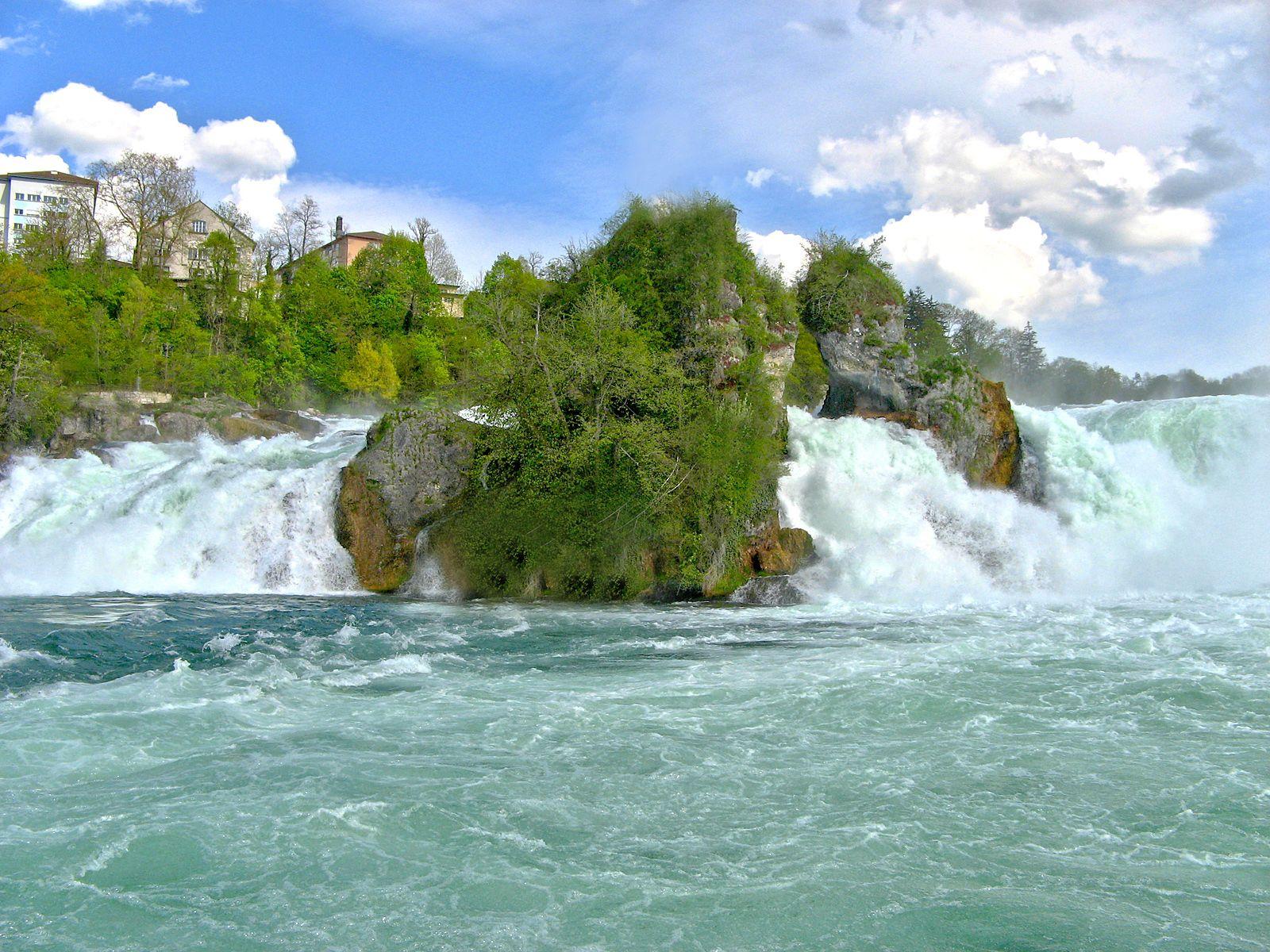 Рейнский водопад rheinfall один из