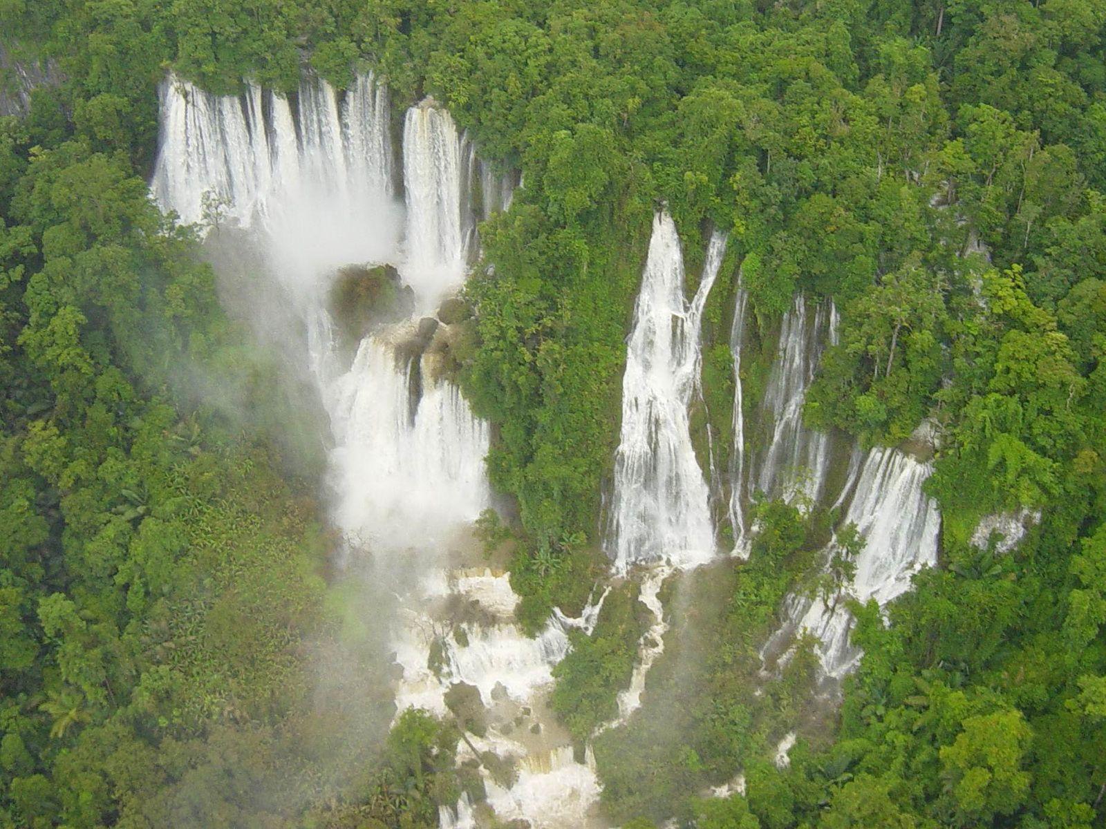 Водопад Ти Ло Су сверху