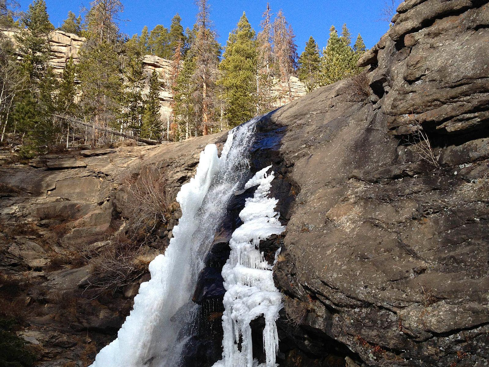 Водопад Брайдлвейл весной