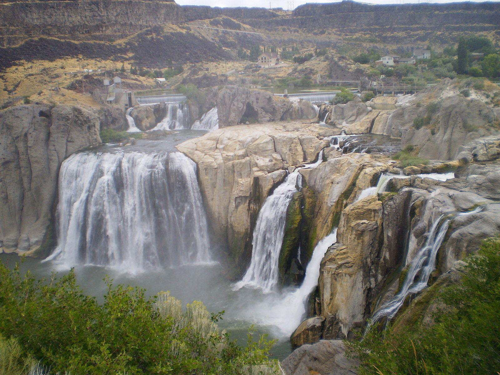 Водопад Шошони сверху