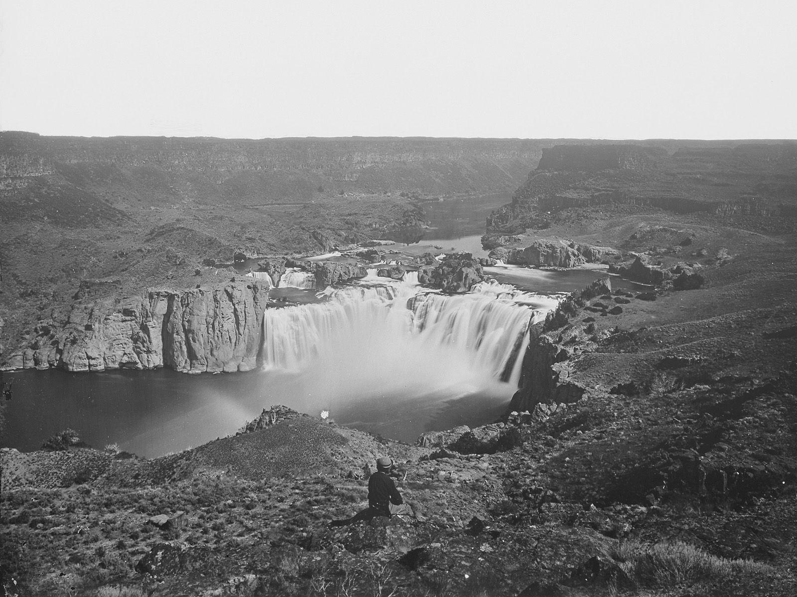 Водопад Шошони снимок 1881 года