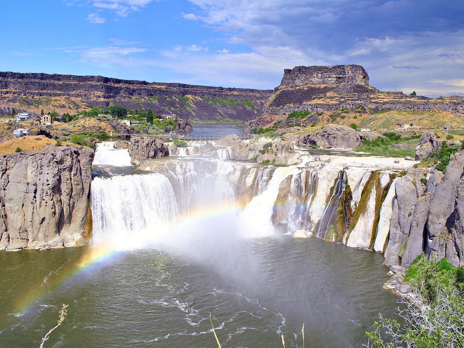 Водопад Шошони в Айдахо