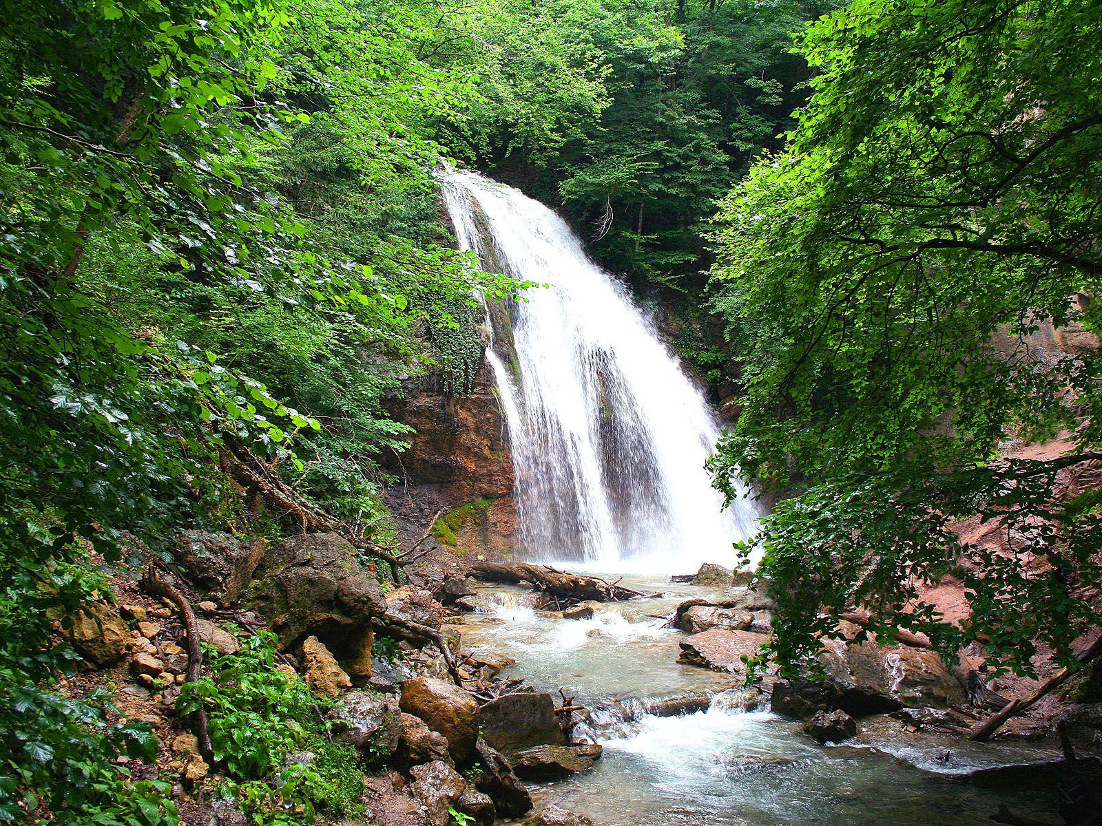Водопад джур джур djur waterfall djur