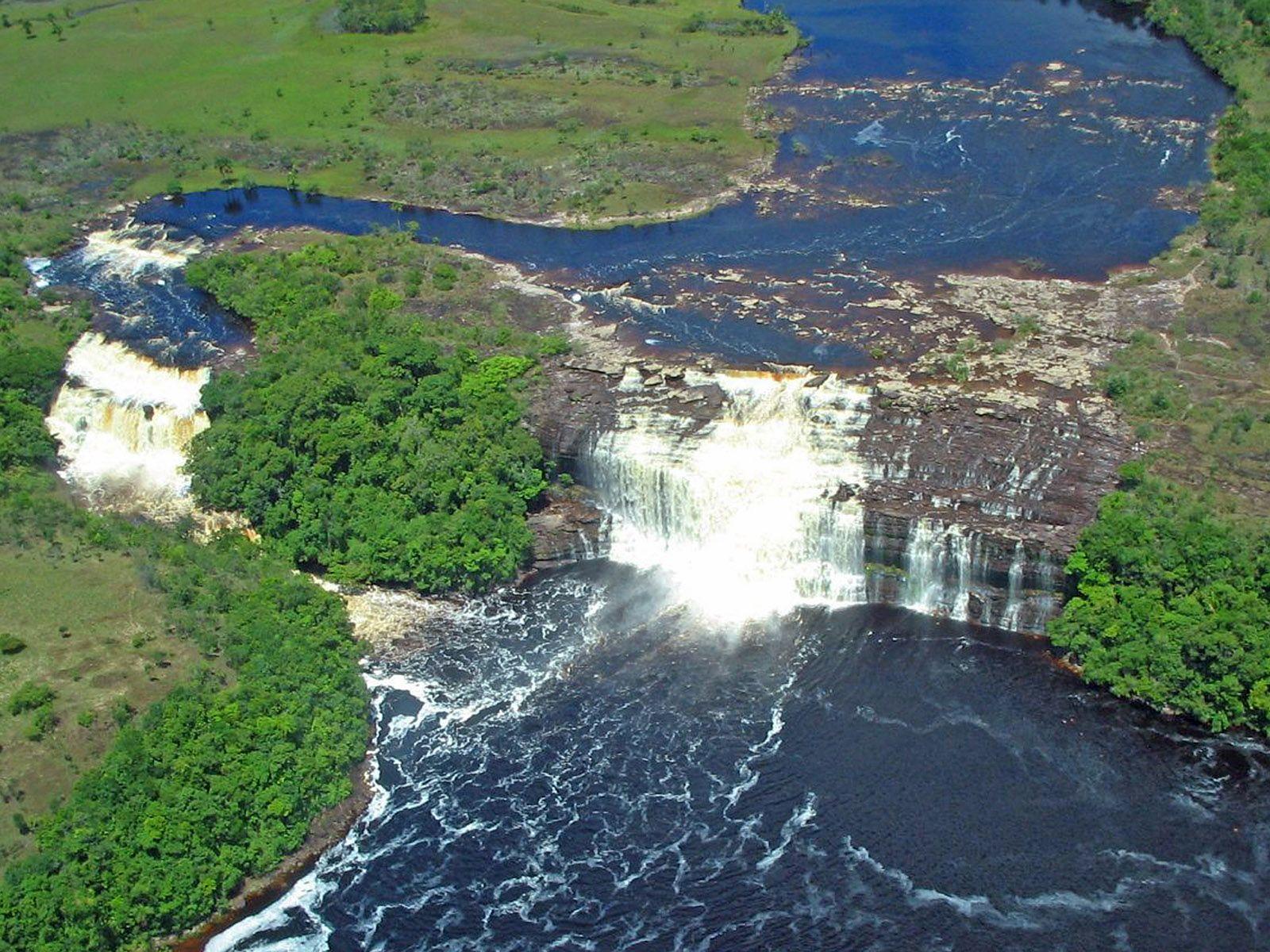 Водопады Сапо с высоты