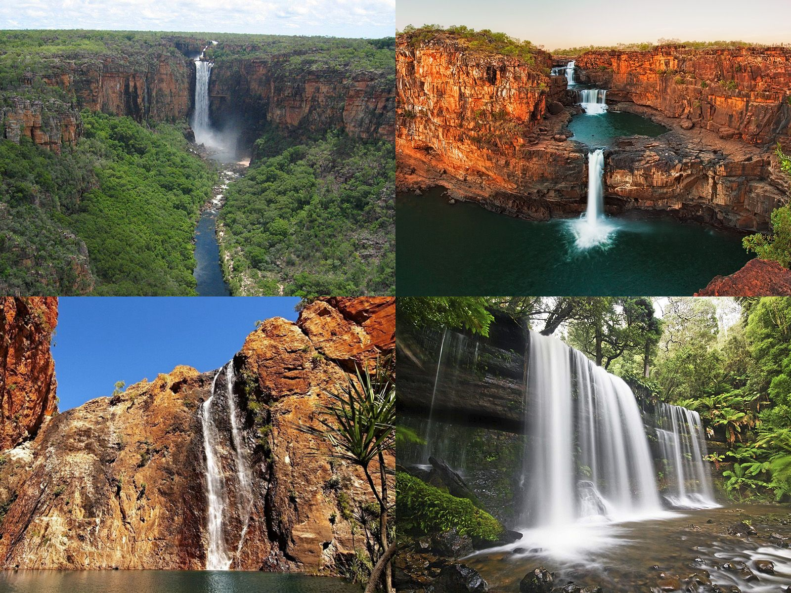 Водопады Австралии и островов