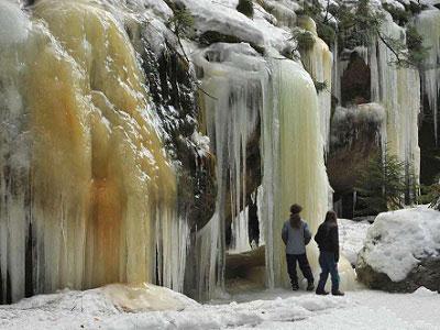 Бртницкие ледопады в Чехии