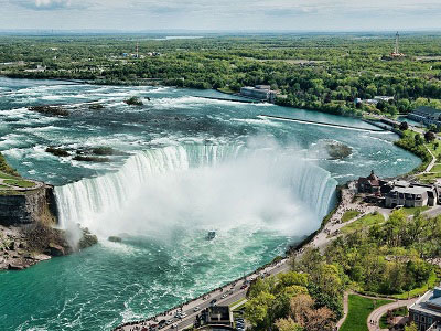 Ниагарский водопад вид сверху